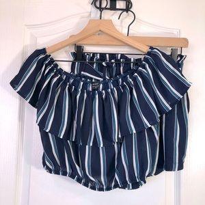 Iris Basic Cropped Top Summer Set Shorts Medium